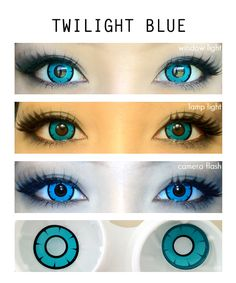 colored eye contacts Twilight Blue opaque contact lens gives you a total transformation. It cover your entire natural eye color perfectly. That makes its best for cosplay by giivin Makeup Without Eye Makeup, Applying Eye Makeup, Eye Makeup Tips, Makeup Art, Makeup Ideas, Face Makeup, Colored Eye Contacts, Circle Lenses, Dark Brown Eyes