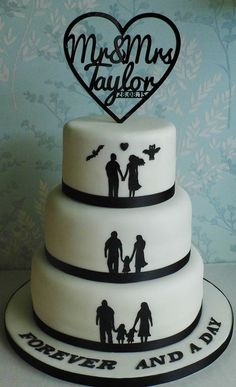 Silhouette wedding Cake Silhouette Wedding Cake, Cupcake Cakes, Cupcakes, Beautiful Wedding Cakes, Facebook Sign Up, Cake Designs, Muffins, Crystals, Handmade