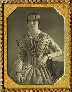 Antique 1 4 Plate Daguerreotype of Beautiful Woman in Elegant Dress in Half Case | eBay