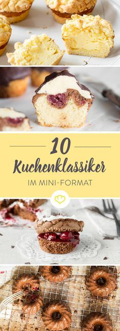Liebling, ich habe den Kuchen geschrumpft! Bienenstich, Schwarzwälder Kirsch und Co. schmecken auch als Cupcake, Muffin oder Whoopie unvergleichlich gut.