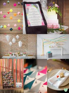 Colourful Geometric Wedding Styling Ideas from the Wedding Community