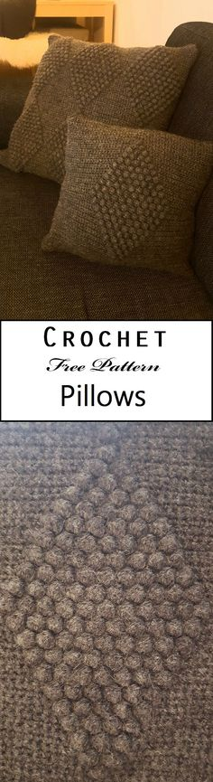 Here it is: the small pillow free crochet pattern. Crochet your own modern and stylish small pillow with popcornstitches - the pattern is of course free!