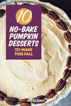 """10 No-Bake Pumpkin Desserts to Make This Fall 