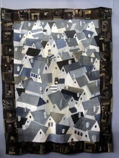 quilting with denim | Reiko Nishida. The center of the quilt is made from denim jeans! The ...