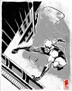 Daredevil by Nelson Dániel Comic Book Artists, Comic Books, Daredevil Matt Murdock, The Guardian, Comic Art, Avengers, Marvel, Deviantart, Superhero