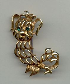 Avon Pekinese Brooch 1972-Very Cute!