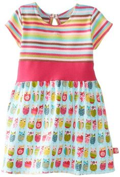 Zutano BabyGirls Newborn Owls Banded Waist Dress Aqua 3 Months ** Be sure to check out this awesome product. (This is an affiliate link) #BabyGirlDresses