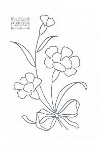 Cool Carnations Embroidery Transfer Pattern