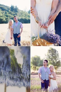 Love the bottom right pose. Ask your bride to hug the grooms arm as if she were cold, and then each look away from each other. Good stuff.(;