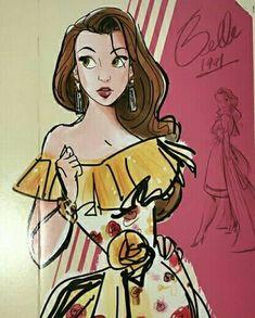 Drawing of Belle Disney Pixar, Walt Disney, Disney Nerd, Disney Marvel, Disney Fan Art, Disney And Dreamworks, Disney Magic, Disney Belle, Disney Dream