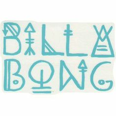 Tilly's Billabong Sunbeam Stroll Sticker in Turquoise $3.99