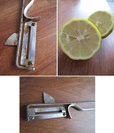 Rost mit Zitronensaft entfernen / remove rust with lemon juice