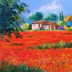 Jean-Marc JANIACZYK was born in 1966 (Douai, France), he's a Self-taught artist, he paint landscape of Provence; Watercolor Landscape, Landscape Paintings, Watercolor Art, Pintura Exterior, Old Farm Houses, House Landscape, China Painting, Landscape Pictures, French Artists