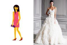 Wedding Dresses for Ruler Body Shapes