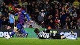Lionel Messi eclipsó los 232 goles de César Rodríguez con el equipo azulgrana en el triunfo del Barcelona por 5-3 sobre el Granada el 20 de ...