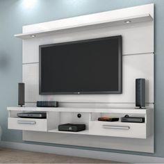 Sua sala de estar será muito mais linda com esta estante. Com as prateleiras e gavetas, você terá um grande espaço para organizar e decorar o seu ambiente. ;) #decoração #design #madeiramadeira