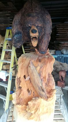 We do Custom Carvings! Call us Today for a Quote! Indoor Furniture Design, Pinocchio, Redwood Burl, Wood Supply, Bear Pictures, Chainsaw Carvings, Wood Carvings, Salvaged Wood, Wood Sculpture