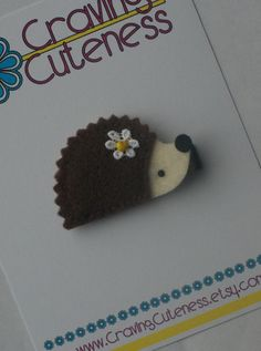 Cute Hedgehog Hair Clip  Meet Miss Henley  MORE by CravingCuteness, $3.25