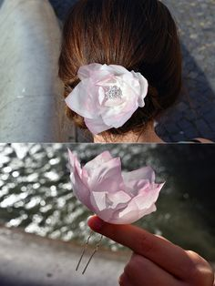 bridal hair clip, bridal hair accessories, wedding headpiece, wedding hair accessories, floral hair accessories bridal hair piece, faux pearls, floral hairpiece  Flowers are made entirely by hands from thin silk.  Price for one piece.  Size  You can ask me any questions and I will certainly answer you. Each piece is unique and slightly different to one another. I love custom order and love to hear from you. Other colors are available. Custom orders are welcomed. When the order is ready I… Bridal Headpieces, Headpiece Wedding, Flower Headpiece, Floral Hair, Wedding Hair Accessories, Hair Pieces, Hair Clips, Wedding Hairstyles, Trending Outfits