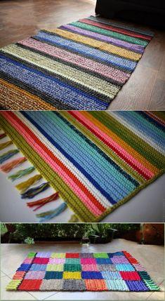 Granny Square Crochet Pattern, Crochet Patterns, Weaving Art, Art Techniques, Knit Crochet, Quilts, Embroidery, Blanket, Knitting