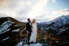 Maggie and Nate Photo: Andrew Hewson New Zealand, Mountains, Nature, Wedding, Travel, Valentines Day Weddings, Naturaleza, Viajes, Destinations