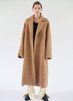 Coat in Curly Llama Wool - Spring / Summer Collection 2017 | CÉLINE