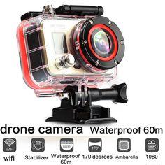 drone camera  Action Diving 60M Waterproof 1080P Full HD 12MP Helmet Camera Underwater Sport Cameras Sport DV GoPro camera