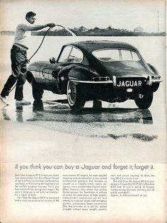 chromjuwelen: 1965 Jaguar XK-E (via 1965 Jaguar XK-E Advertisement Road & Track February 1965 Jaguar Xk, Jaguar E Type, Jaguar Cars, Vintage Advertisements, Vintage Ads, Automobile, Corvette Convertible, Car Advertising, Car In The World