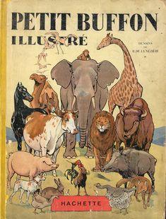 ¤ Petit Buffon illustré - dessins de R. De la Neziere. Edition Hachette. 1929