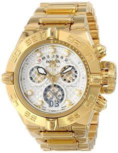 Invicta Mens Subaqua Analog Swiss-Quartz Gold Watch