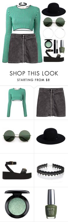 """""""July 5, 2017"""" by madelynn-gv ❤ liked on Polyvore featuring Ports 1961, Siggi, Versace, WithChic, MAC Cosmetics, OPI and Gucci"""