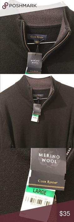 Brand-new Club Room 100% wool sweater Excellent new condition bundle and save 15% Club Room Sweaters Zip Up
