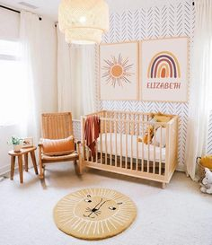 Baby Nursery Decor, Nursery Furniture, Baby Bedroom, Baby Decor, Boho Nursery, Nursery Ideas, Yellow Nursery, Project Nursery, Yellow Baby Rooms