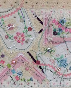 Close up of the Crazy Quilt Bag after all the embellishments were added. Pic 2 of 2. Rhonda Dort