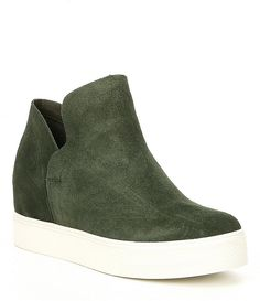 Steve Madden Wrangle Suede Platform Wedge Sneakers 134bad703