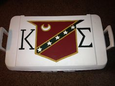 Kappa Sigma. ΚΣ. Top of the cooler.