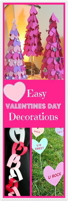 DIY Home Decoration Ideas for Valentine's Day. Easy to make Home Decor Crafts for Valentine's Day. Homemade Valentines ideas for mantle decorating, party tables, yard art, heart garland, valentine trees, kids rooms and more! LivingLocurto.com