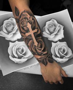 Half Sleeve Tattoos Forearm, Half Sleeve Tattoos For Guys, Forarm Tattoos, Cool Forearm Tattoos, Hand Tattoos For Guys, Best Sleeve Tattoos, Tattoo Sleeve Designs, Holy Tattoos, Tribal Hand Tattoos