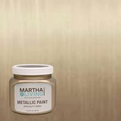 My ALL TIME FAVORITE gold paint.  I have it all over my house.  Martha Stewart Living 10 oz. Vintage Gold Metallic Paint