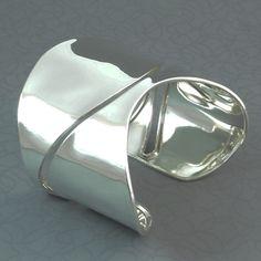 Curvaceous sterling silver cuff  #sterling silver jewellery  #silver cuff  #statement cuff