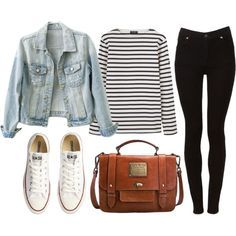 Untitled by hanaglatison on Polyvore featuring Saint James, Cheap Monday, Converse and Jack Wills