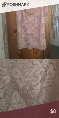 Rose Blush Top In good condition! Textured material! F21 brand Forever 21 Tops Blouses
