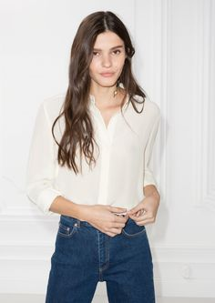 & Other Stories image 1 of Silk Shirt in Off white