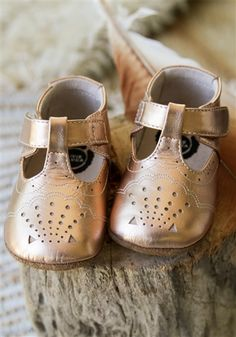 Livie and Luca Baby Shoes - Cora in Rose Gold