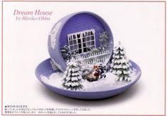 WiNTeR SCeNe in a TEaCuP   {Looks like it was made in Wedgewood Teacup & Saucer.}