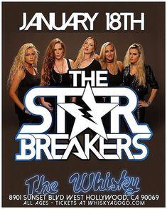 #TheStarbreakers @thestarbreakers The Starbreakers: All-Star Female Cover Band! #nitastrauss #courtneycox #jilljanus #lindsaymartin #emilyruvidich Next show: The Whisky Jan 18, 2018!