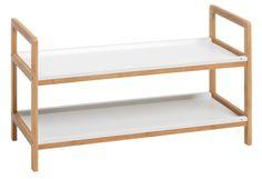Schoenenrek BROBY 2 schappen bamboe/wit | JYSK  30,-