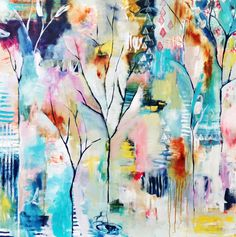 Flora Bowley - July 1 2014 painting (This is stunning! Is there anything by Flora that I don't love!)