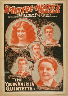 AP1804 - Joseph Hart, Vaudeville Poster (30x40cm Art Print ...