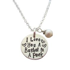 I Love You A Bushel and a Peck with Pearl-Mother's Day gift!!